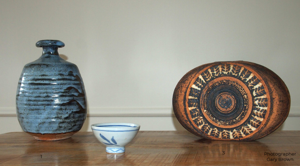 L to R: work by Peter Rushforth, Ivan McMeekin and Peter Travis